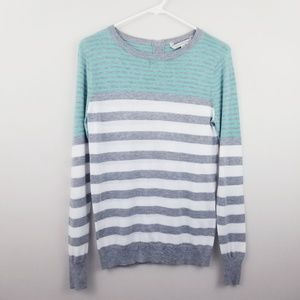 41 Hawthorn | Liss Button Back Striped Pullover